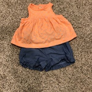 Sleeveless Top with Shorts